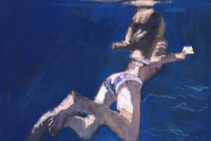 Georgia Underwater - oil on canvas - 30cm x 40cm -sold