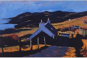 Houses, Skye - acrylic on paper - 30 x 45 cm - sold