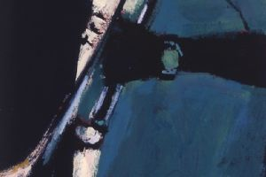 Trumpet Player, Cuba - acrylic on paper - 50 x 20 cm - sold