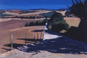 White Lane, Tuscany - acrylic on board - 50 x 50 cm - sold