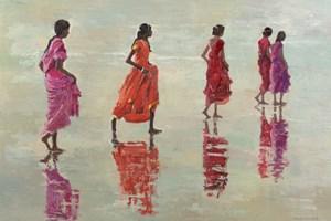 Women on the Beach, Kerala  - Oil on Board - 77 x 110 cm - sold