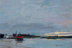 Brancaster Staithe, Norfolk - oil on board - 20 x 30 cm - sold