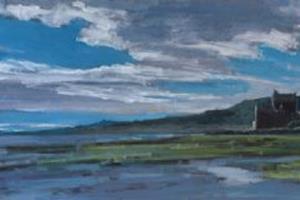 Eilean Donan Castle - acrylic on board -30 x 90 cm - £2450