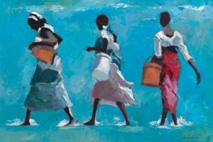 3 Women, Zanzibar - oil on board - 35 x 50 cm - sold