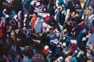 Marrakech Market - oil on board - 84 x 96 cm - sold