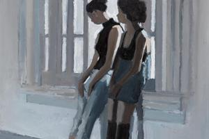 Dancers resting, Havana,Cuba - oil on board - 50 x 35 cm - sold