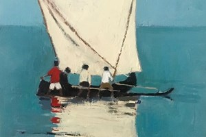 Dhow, Madagascar - oil on board - 30 x 50 cm -sold