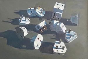 Plugs Still Life - acrylic on board - 77 x 110 - POA