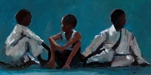Judo Class, Havana - oil on board - 20 x 40 cm - sold