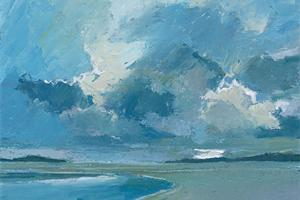 Beach, Isle of Harris - oil on board - 15 x 25 cm - sold