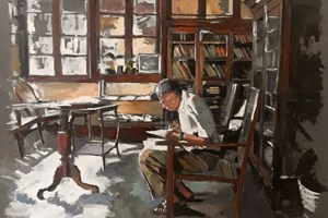 Reading Library, Galle, Sri Lanka - oil on board - 77 x 110 cm - sold
