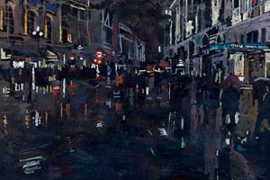 Coventry Street. London  - Oil on Board - 77 x 110 cm - sold