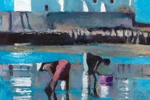 Low Tide, Mozambique Island - oil on board - 50 x 50 cm - sold