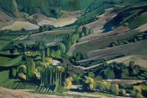 Fields near Nelson, NZ - oil on canvas - 80 x 110 cm - sold