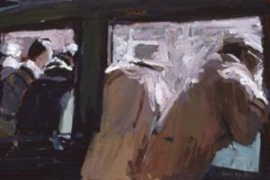 Train Carriage, Madagascar - acrylic on canvas - 40 x 80 cm - sold