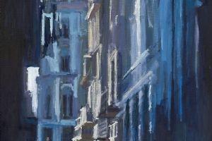 Street Scene 3, Havana - oil on canvas - 120 x 60 cm - sold