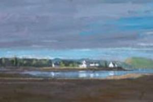 Plockton, Scotland - oil on canvas - 30 x 120 cm - sold