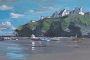 Port Isaac, Cornwall - acrylic on board - 30 x 90 cm -£2450