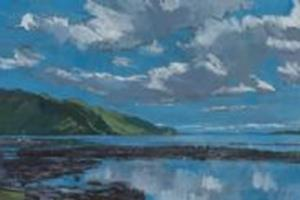 Near Arnisdale, Scotland, acrylic on board - 30 x 120 cm - £2450