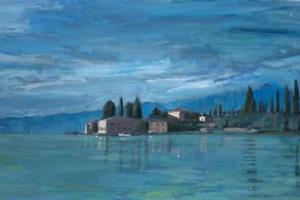 San Vigilio, Lake Garda - acrylic on board -54 x 108 cm - sold