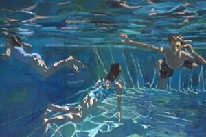 Three Swimmers - Acrylic on Canvas - 120 x 200 cm - POA