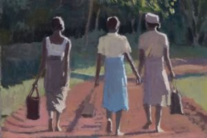 Madagascan Women - acrylic on paper - 24 x 36 cm - sold