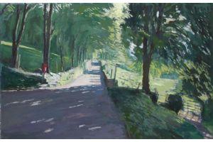 Road near Croesor - acrylic on board - 45 x 70 cm - sold