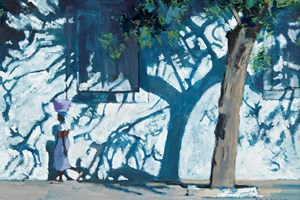 Tree Shadows, Mozambique - Oil on Board - 35 x 50 cm - SOLD