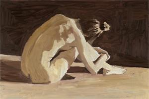 Nude - oil on board - 40 x 60 cm - sold