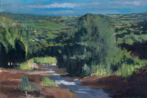 Landscape, Cyprus - acrylic on paper - 24 x 36 cm- £800