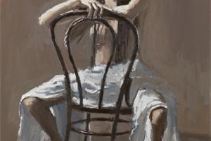 Seated Nude - oil on board - 50 x 25 cm - sold
