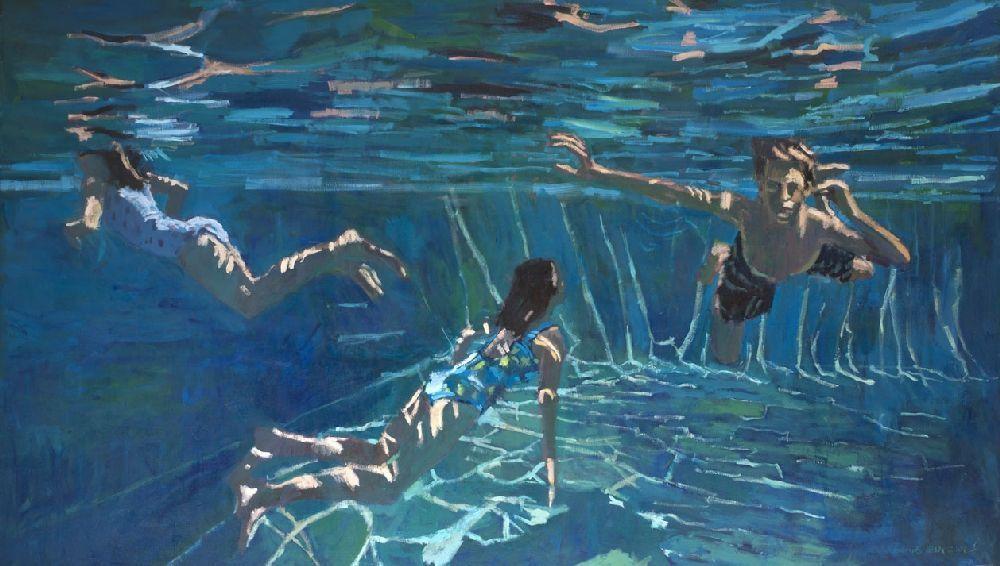 Three Swimmers - Acrylic on Canvas - 120 x 200 cm - £9500