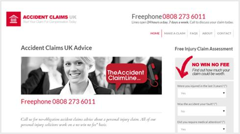 new accident claims UK website