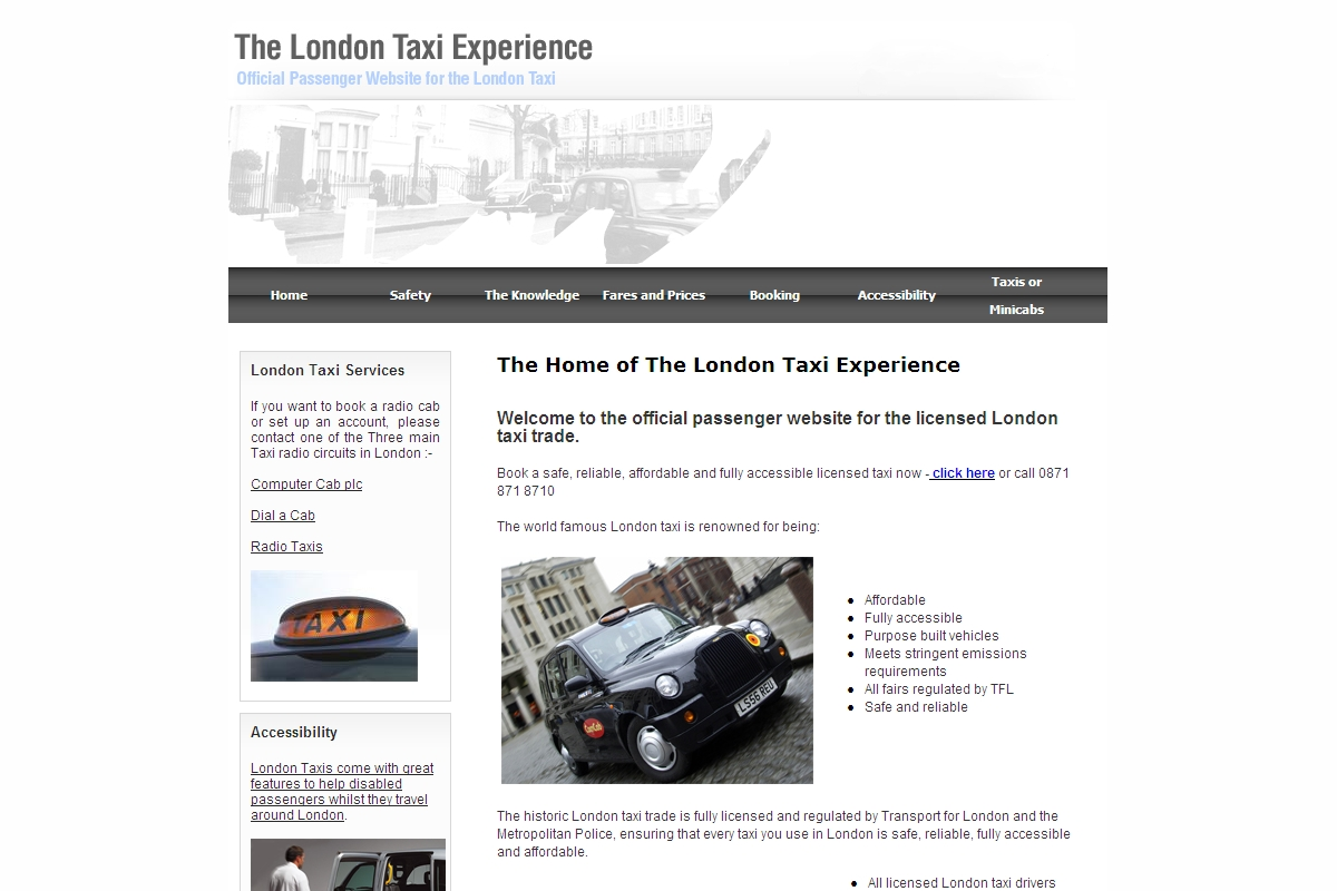london taxi accessibility   the real london taxi  london