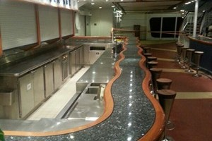 Bar Tops Supplied & Fitted To The Riviera Bar on The Aurora.