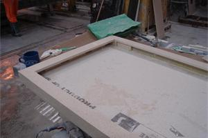 Working on Fabricated Worktops at Our Factory in Southampton