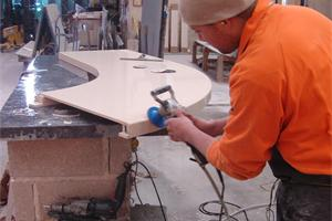 Working on Fabricated Worktop
