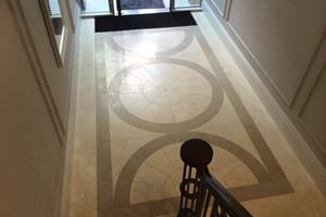 Recently completed entrance hall for Alfred Homes.